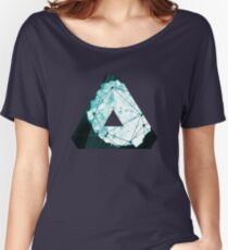 Abstract Geometry: Ocean Crystal (Ice Blue) Women's Relaxed Fit T-Shirt