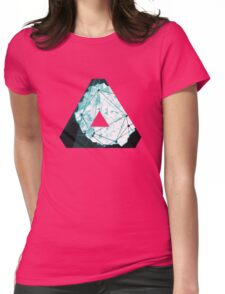 Abstract Geometry: Ocean Crystal (Ice Blue) Womens Fitted T-Shirt