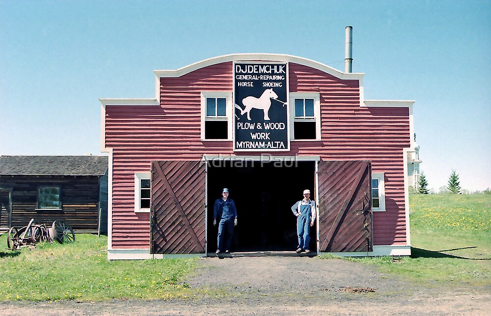 Demchuk Blacksmith Shop - Ukrainian Cultural Heritage Village, near Edmonton, Alberta, Canada by Adrian Paul