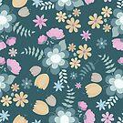 Beautiful Hand Drawn Flowers by Pamela Maxwell