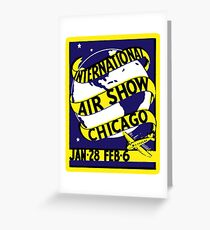 1938 Chicago International Air Show  Greeting Card