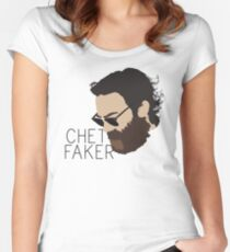 Chet Faker - Minimalistic Print Women's Fitted Scoop T-Shirt