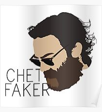 Chet Faker - Minimalistic Print Poster