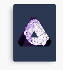 Abstract Geometry: Poison Violet (Dark Purple/Violet) Canvas Print