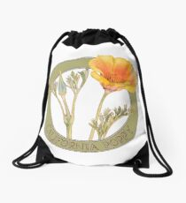 California Poppy Drawstring Bag