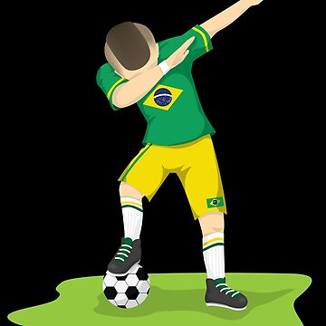 Dabbing Brazilian Soccer | World Cup 2018 | World Cup 2018 Shirt | World Cup 2018 Jersey | World Cup Soccer | World Cup Futbol | soccer player gift by qtstore12