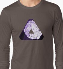 Abstract Geometry: Poison Violet (Dark Purple/Violet) Long Sleeve T-Shirt