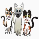 3 Cats by ginamitch