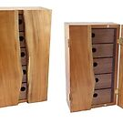 Cherry Wall Cabinet with Raw-Edge Doors by Robert's Woodworking Studio