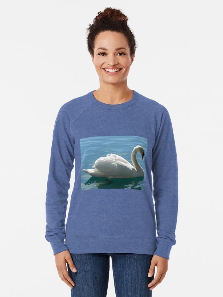 Alternative Ansicht von Schwimmen, schwan, schwimmen Leichter Pullover