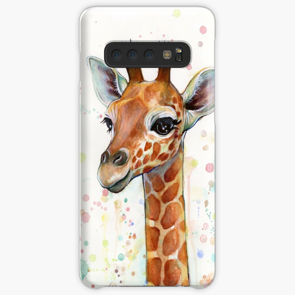 Baby Giraffe Watercolor Painting, Nursery Art Case & Skin for Samsung Galaxy