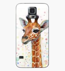 Baby Giraffe Watercolor Painting, Nursery Art Case/Skin for Samsung Galaxy