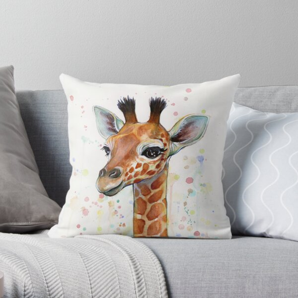 Giraffe Pillows Cushions Redbubble