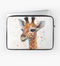 Funda para portátil Baby Giraffe Watercolor Painting, Nursery Art