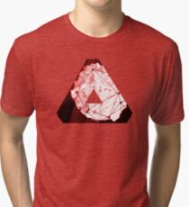 Abstract Geometry: Blood Ruby (Dark Red) Tri-blend T-Shirt