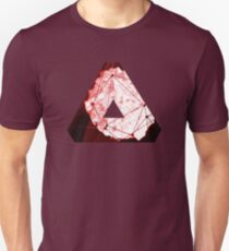 Abstract Geometry: Blood Ruby (Dark Red) Unisex T-Shirt