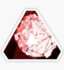 Abstract Geometry: Blood Ruby (Dark Red) Sticker