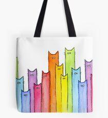 Regenbogen der Katzen Tote Bag