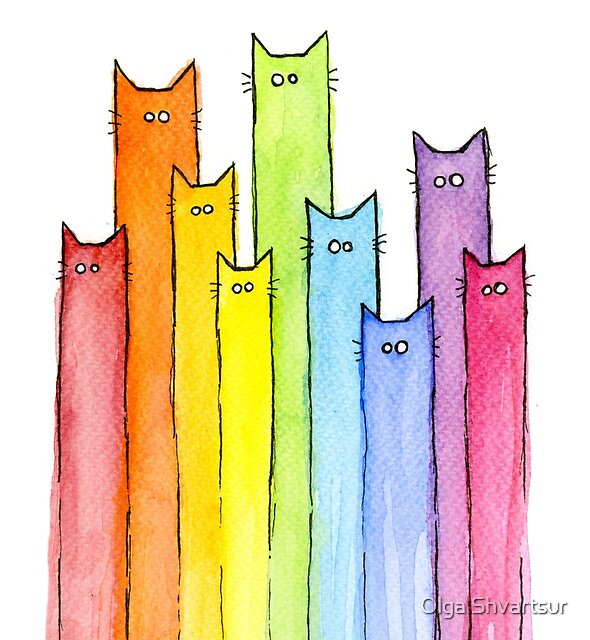 Rainbow of Cats by Olga Shvartsur