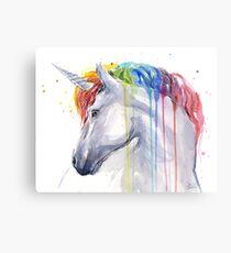 Lienzo Rainbow Unicorn acuarela