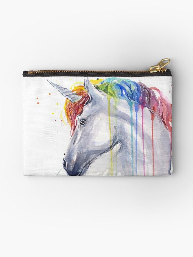 Rainbow Unicorn Zippie Pouch