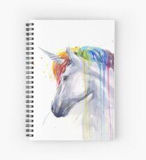Rainbow Unicorn Watercolor Spiral Notebook
