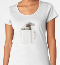 Cup O' Hokusai Premium Scoop T-Shirt
