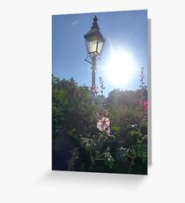 Narnia Style Lamp Post Park  Greeting Card