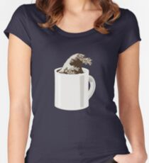 Cup O' Hokusai Fitted Scoop T-Shirt