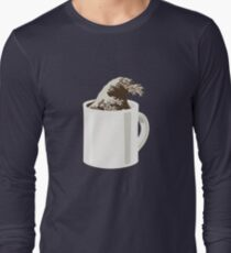 Cup O' Hokusai Long Sleeve T-Shirt