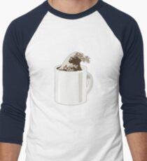 Cup O' Hokusai Men's Baseball ¾ T-Shirt
