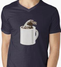 Cup O' Hokusai Men's V-Neck T-Shirt