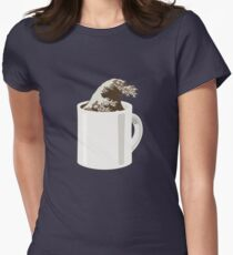 Cup O' Hokusai Fitted T-Shirt
