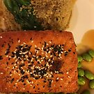 Glazed Salmon with Quinoa Bok Chou and Edamame, Delectable! by zwrr16