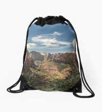 Overlook Canyon, Zion National Park, Utah Drawstring Bag