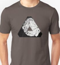 Abstract Geometry: Monochrome Crystal (Black/White/Grey) T-Shirt