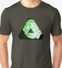 Abstract Geometry: Neon Forest (Dark Green) T-Shirt