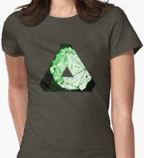Abstract Geometry: Neon Forest (Dark Green) Women's Fitted T-Shirt