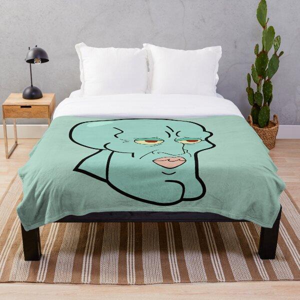 Handsome Squidward Throw Blanket