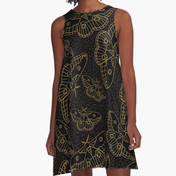 Night Swarm A-Line Dress