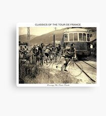 TOUR de FRANCE : Vintage 1937 Bike Racing Print Canvas Print