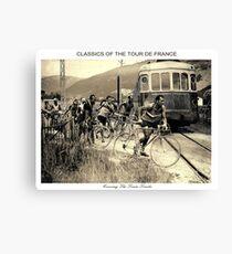 TOUR de FRANCE : Vintage 1937 Bike Racing Print Canvas Print