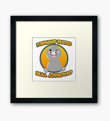 Seal of Approval Framed Print