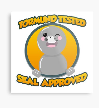 Seal of Approval Metal Print