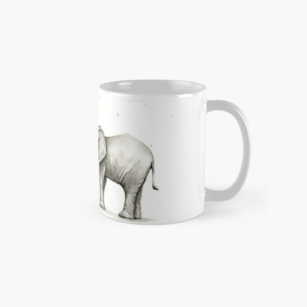 Baby-Elefant-Sprühregenbogen Tasse