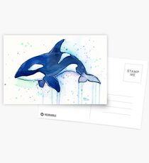 Killerwal Orca Aquarell Postkarten