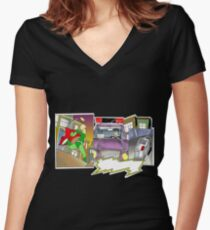 comic T Women's Fitted V-Neck T-Shirt