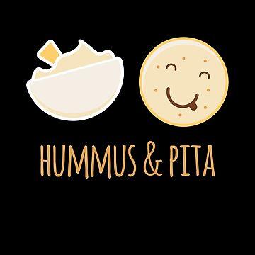 Hummus And Pita - Funny Vegan Foodie by RaveRebel