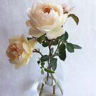 Garden Roses in Glass by Barbara Wyeth