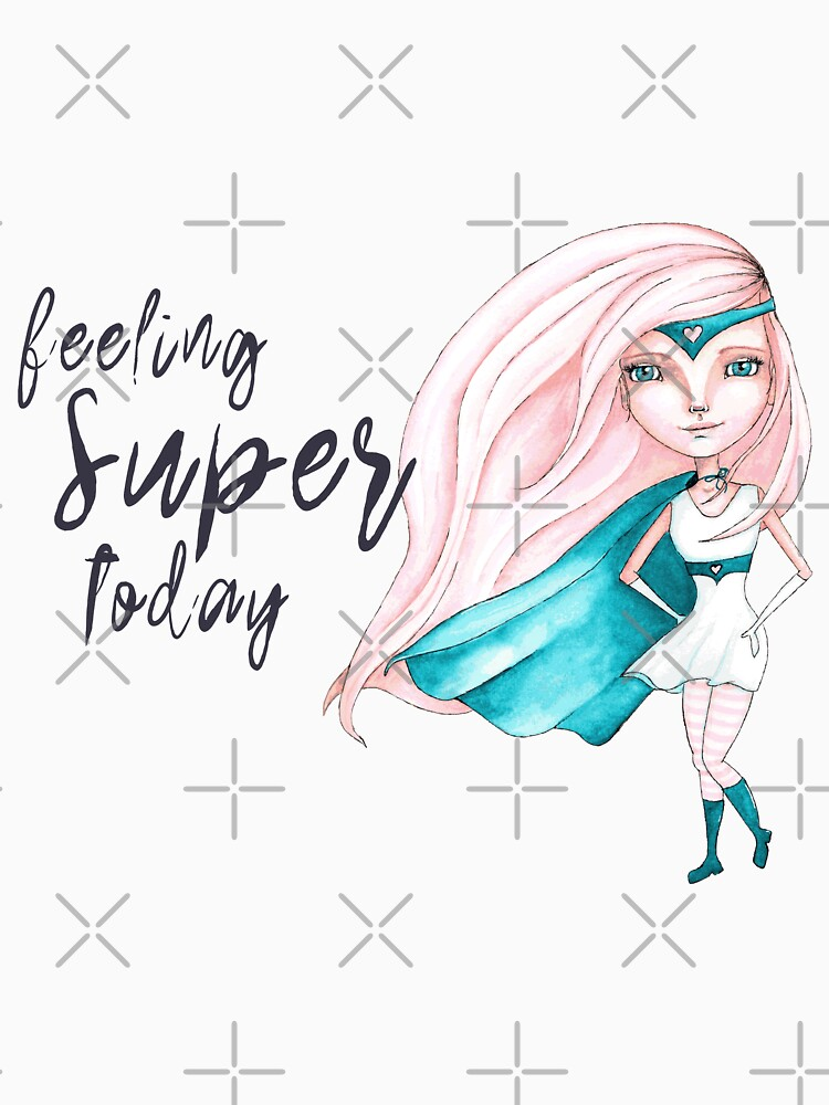 Feeling Super Today - Peach & Teal Version by LittleMissTyne